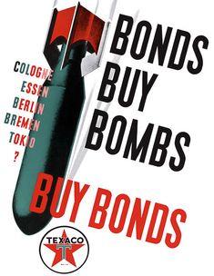 """""""Buy Bonds"""" US Texaco c. 1942"""