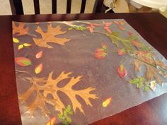 fall craft | Candace Creations: Autumn Placemat - Crafts with Kids