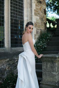 Montsalvat photoshoot by Karen Willis Holmes. Pictured the 'Gerri/Merrida' BESPOKE wedding gown with detaachable train.  Follow us - @KWHBridal | Photography - @beksmithjournal . #karenwillisholmes #bridetobe #laceweddingdress #modernwedding #beksmith