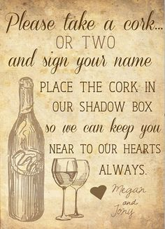 Wedding Guest Sign In Ideas Guestbook Wine Corks Ideas For 2019 Wine Cork Wedding, Wedding Guest Book, Diy Wedding, Wedding Champagne, Wedding Ideas, Wedding Crafts, Trendy Wedding, Wedding Signs, Wedding Stuff