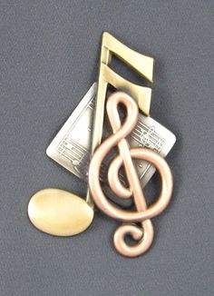 Simply Music Brooch by PINSwithPERSONALITY on Etsy,
