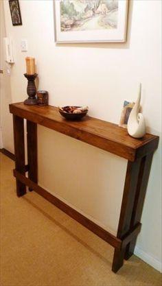 entrada palet delgado sofá o mesa auxiliar