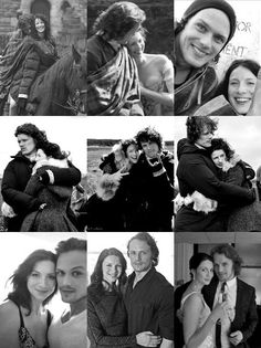 "beingcuriousis:  Photo found on smithsassenach.tumblr.com SamCait Dedication #1: The ""huggiest"" pair <3 Something happens when I hold herShe keeps my heart from getting older ~ Something happens when I hold himHe keeps my heart from getting broken"