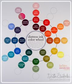 Distress Ink color wheel & basic color theory lesson (with free printable) -- by Britta