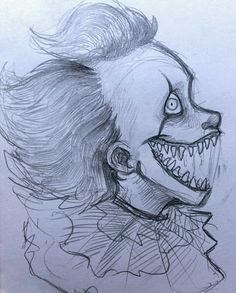 Pennywise by marrykitts Pennywise by marrykitts - - halloween drawings Scary Drawings, Halloween Drawings, Dark Art Drawings, Pencil Art Drawings, Art Drawings Sketches, Halloween Art, Cute Drawings, Creepy Sketches, Scary Clown Drawing