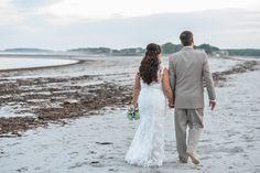 Maine Wedding Photographer - Beach Wedding in Maine - Kennebunkport - Goose Rocks Beach - Bride & Groom - Barefoot Wedding