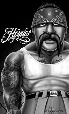 Homies always love those Chicano Love, Chicano Art, Cholo Costume, Gustavo Lopez, Chicano Drawings, Art Drawings, Estilo Cholo, David Gonzalez, Cholo Art
