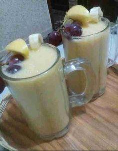 كوكتيل لذيذ Arabic Food, Glass Of Milk, Pudding, Desserts, Recipes, Science, Image, Drink, Arabian Food