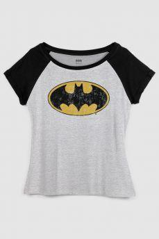 Camiseta Raglan Feminina Batman Logo Clássico 148511836bd