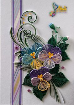 *QUILLING ~ by: Neli Quilling card /14.8 cm- 10.5 cm/