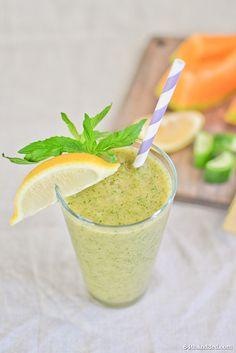 Summer Cantaloupe, Cucumber & Mint Green Juice