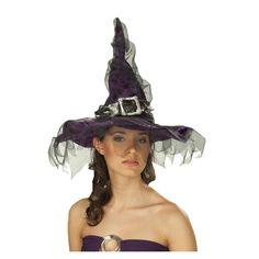 #bonplan #Halloween -25% chapeau sorcière femme http://www.baiskadreams.com/1915-chapeau-sorciere-velours-violet-avec-tulle-noir-femme.html …