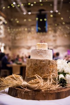 Cheese cake for your wedding? Forte Catering & Events #cellblocktheatre #inlightenphotography #wedding