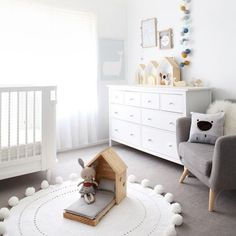 """129 Likes, 23 Comments - Piper & I (@piper_and_i) on Instagram: """"I adore this room! Featuring our Pom Pom Rug! We have both sizes ready to ship in white, light grey…"""""""