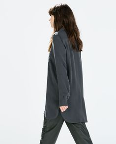 ZARA - WOMAN - ZIPPED TUNIC WITH SIDE SLITS - quite elegant- with black leggings and high heels or boots...for the evening with long necklace...