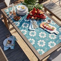 Mosaic Tiled Dining Table #westelm