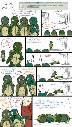 Ask the AU Turtles: 8 by 10yrsy.deviantart.com on @deviantART<--- CUUUUTE!!!!