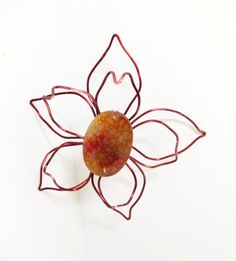 Magnetic Scarf Pin Copper Flower Brooch Magnetic by simplysuzie2, $35.00