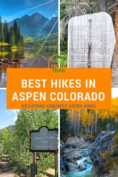Explore 10 of the best hikes in Aspen, Colorado and take in the amazing fall colors or spring wildflower blooms. You'll enjoy the beauty of Maroon Bells, making your way up Aspen Mountain from the Ute Boulder Colorado, Aspen Colorado, Colorado Springs, Road Trip To Colorado, Colorado Hiking, Colorado Mountains, Denver Travel, Travel Oklahoma, Aspen Mountain