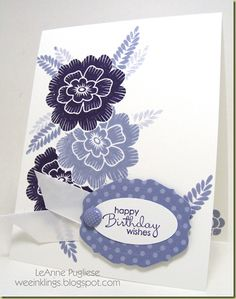 pretty card to make in any color combo