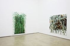 With deftly applied strokes of paint scarsely wider than a hair, Korean painter Kwang-Ho Lee creates towering renderings of cacti that bristle with thorns and tangled branches. The colorful oil paintings can reach up to 8 feet tall, an imposing scale with ample room for tediously composed details that push each work into the realm of hyperrealism.