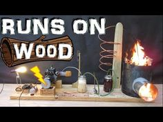 How to Make a Generator that Runs on Wood!!! (wood gas gasifier) Experiment - YouTube