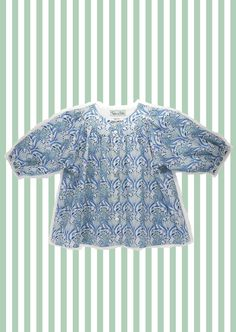Girl's Liberty of London Blouse/ Top by tinkerandbelle on Etsy, Liberty Print, Shirt Blouses, Shirts, Liberty Of London, Mother Of Pearl Buttons, Gypsy Style, 6 Years, Knitwear, Summer Outfits