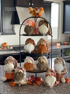 Wood Bead Garland, Beaded Garland, Diy Garland, Fall Crafts, Holiday Crafts, Biker Gnomes, Gnome Hat, Plaid Decor, Buffalo Plaid