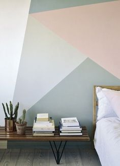 A striking combination of pastel tones and geometric patterns - dreamy.
