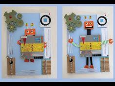 DIY pop up ROBOT card