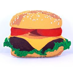 Plush Burger Nomz Pillow