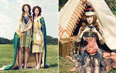 The Vogue Korea May 2012 Issue is Based On Bohemian Fashions #bohemian #fashion trendhunter.com