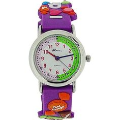 Ravel Girls Love Choclate Time Teacher 3D Purple Strap Watch R1513.51 Telling Time, Teacher, 3d, Watches, Purple, Girls, Professor, Wristwatches, Daughters