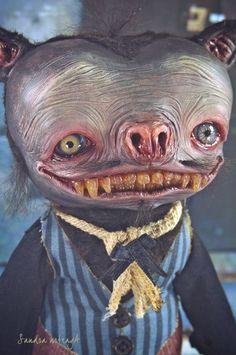 Murphyelago   Art doll ooak monster halloween bat by SandraArteagA