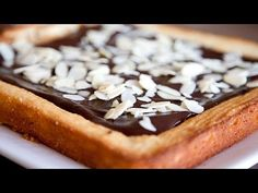 This time I am presenting you how to make Easter Mazurek. It is traditional  Polish cake.  Ingredients:  For the cake:      * 250 g butter     * 1 1/2 cup almond meal     * 1 cup flour     * 1/2 cup sugar     * 1 tbs sour cream     * 1 egg     * 1/4 tsp of pure almond extract     * 1/