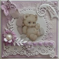 Idea for baby girl or young girl. Baby Girl Cards, New Baby Cards, Baby Scrapbook, Scrapbook Cards, Pinterest Cards, Baby Barn, Making Greeting Cards, Fancy Fold Cards, Scrapbooking