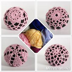 Balletbun hair accessory crochet bun cover dance by MeesterMaakt