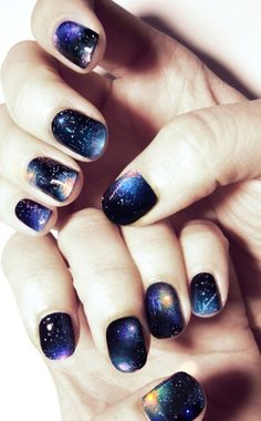 This winter take your nail art to another universe.  #nailtrends #winternails