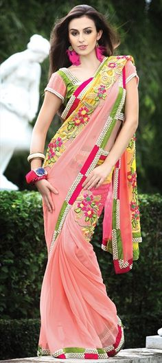 Code-82621  #TACTILE FASHION: #Stone trend in outfits    This trend will provoke all your senses.This innovations of designers for #Fall/Winter 2013/14 is worth trying. Be inspired by the stunning designing stone work in saree and don't miss the chance to sparkle. The stone work can be all- glamorous to elegant and #romantic.   #swarovski
