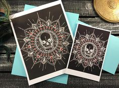 Obilito  skull mandala reproduction prints
