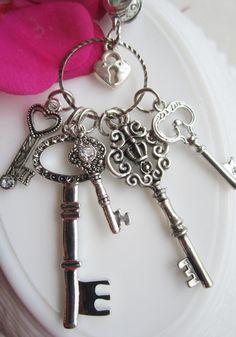 Key Necklace Skeleton key Necklace key by SusanSeaGlassDesigns