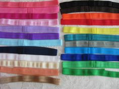 5 FOE Fold over elastic Headbands  2 sizes and 23 colors available.  Your choice of 5 - pinned by pin4etsy.com Baby Items For Sale, Elastic Headbands, Trending Outfits, Unique Jewelry, Handmade Gifts, Etsy, Vintage, Colors, Kid Craft Gifts