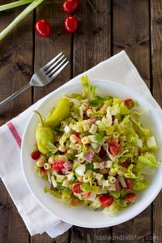 Italian Chopped Salad | Taste and Tell the salad dressing is so good