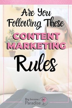When it comes to social media content, you need to follow some rules. It's true that some rules are meant to be broken, but not these 15 content marketing rules. You need to follow them to see success in your business. Without following these content marketing tips, you will probably struggle more than you need to. // Big Income Paradise -- #contentmarketing #socialmediacontent #socialmediacontenttips Content Marketing Strategy, Marketing Strategy Template, Marketing Goals, Marketing Quotes, Online Marketing, Social Media Marketing, Know Who You Are, Getting To Know You, Social Media Content