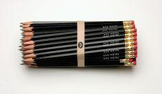 Ace Hotel pencils
