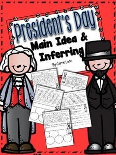 This Product has the following: Main Idea passage with graphic organizer and multiple choice page for George Washington and Abraham Lincoln.