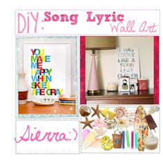 """DiY Song Lyric Wall Art!! :)"" I'm definitely doing this little project!!!"