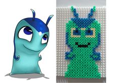 Hama Beads perles Hama slug Phosphoro, slugterra Perler Beads, Image Pixel Art, 8th Birthday, Inspirer, Christmas Ornaments, Indie, Fun, Images, Kids