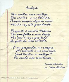 Inibição-Cecília Meireles