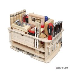 DICTUM Werkzeugträger »Schreinerei, Innenausbau«, bestückt, 43-teilig aus der Kategorie Werkzeugsätze mit 30 Tage Rückgaberecht, 3 Jahre Garantie bei Dictum